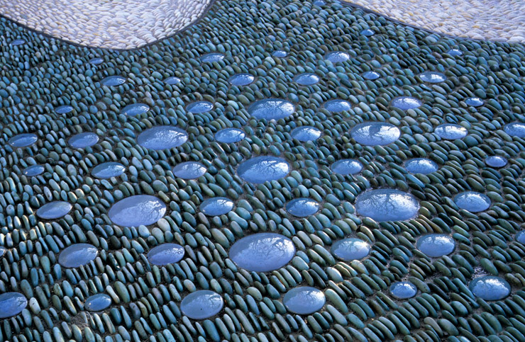 Outdoor Blue Pebbles : Splash lucy sommers gardens